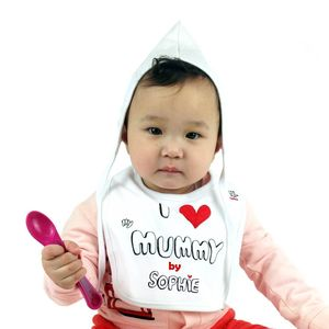 Personalised 1st Mother's Day 'I Love My Mummy' Bib