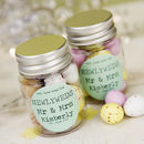 Personalised Wedding Favour Sticker Jar