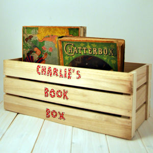 Personalised Book Box - children's furniture