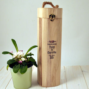Personalised Wedding Wine Box - luxury wrap