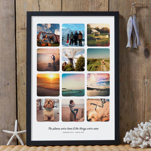 Personalised Instagram Photo Album Poster Print - art & pictures