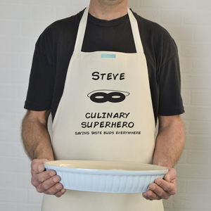 Personalised 'Culinary Super Hero' Apron - kitchen