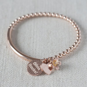Personalised Rose Gold Filled Bracelet - gifts for her