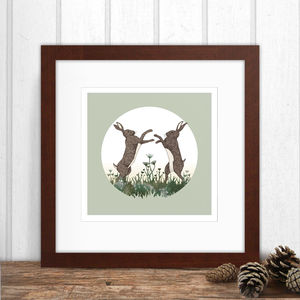 March Hares Print - animals & wildlife
