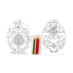 Easter 3D Egg Colouring Kit - easter activities