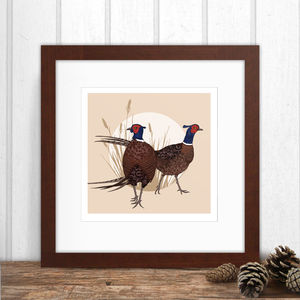 Limited Edition Pheasants Print - animals & wildlife