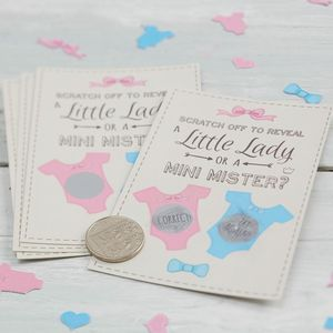 Baby Shower Gender Reveal Scratch Card Game - baby shower gifts & ideas