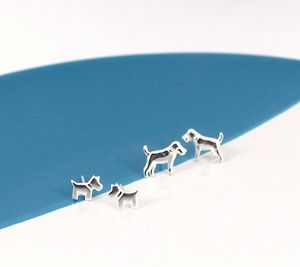 Dog Earrings In Sterling Silver - earrings