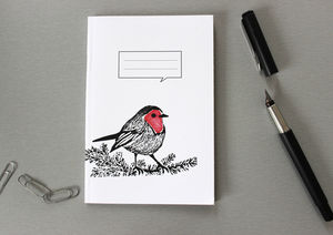 A6 Animal Blank Notebook In Four Designs