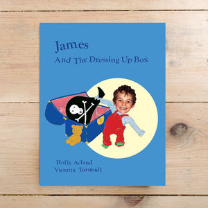 Boys's Name And The Dressing Up Box Hardback - personalised