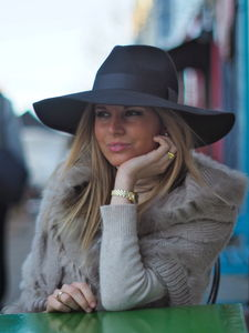 Fedora With Large Brim - womens
