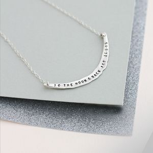 Personalised Curve Necklace