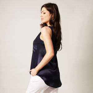 Silk And Jersey Vest Top