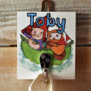 Personalised Cloakroom Hook The Owl And The Pussycat