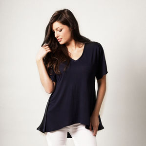 Silk And Jersey Top - women's fashion