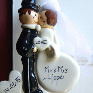 Personalised 'Mr And Mrs' Hanging Decoration - hanging decorations