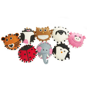Handmade Felt Animal Cushion - children's cushions