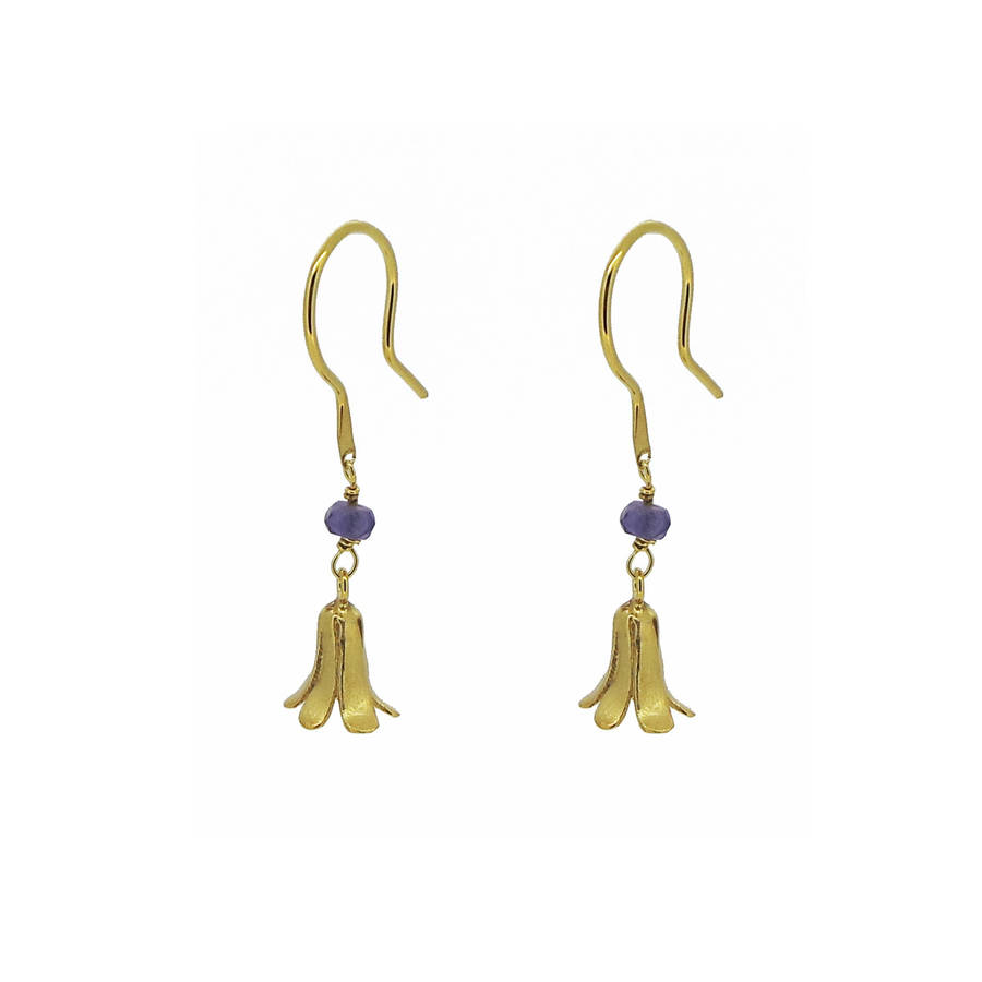 Bluebell And Iolite Earrings