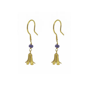 Bluebell And Iolite Earrings - earrings