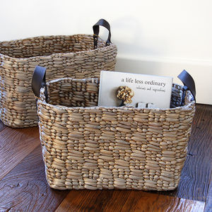Set Of Two Champagne Storage Baskets