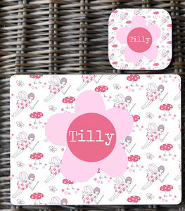Girls Personalised Placemat - placemats & coasters