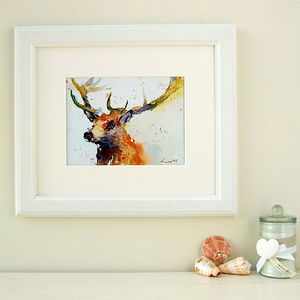 Sir Stag Watercolour Print - contemporary art