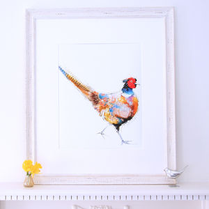 Lola Design Pheasant Fine Art Print - contemporary art