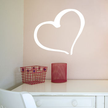 Swirly Heart Wall Sticker