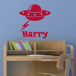 Personalised Alien Wall And Door Sticker - wall stickers