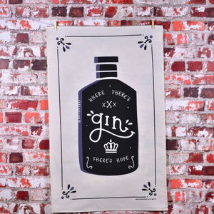 'Where There's Gin There's Hope' Tea Towel - kitchen accessories
