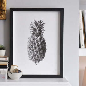 Botanical Pineapple Print - fresh wall art