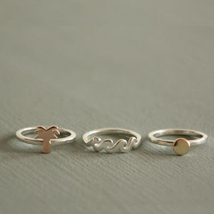 Paradise Precious Ring Set - contemporary jewellery