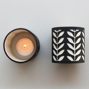 Black Stem Ceramic Tea Light Holder - kitchen