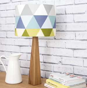 Geometric Lamp And Shade - bedside lamps