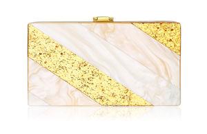 Edith Blush And Gold Clutch Bag - wedding fashion