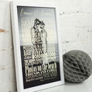 Black And White Photo Typographic Art Print