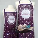 Purple 'Patissiere' apron