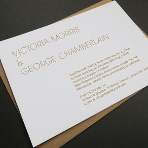 'Swing' Letterpress Wedding Stationery - place cards