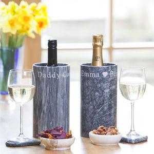 Personalised Marble Wine Cooler - drink & barware