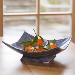 Hand Crafted Square Dark Marble Bowl - kitchen