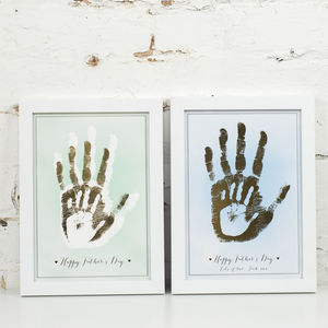 Personalised Family Metallic Handprint Art Print - posters & prints for children