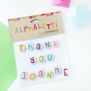 Personalised Thank You Name Magnets - kitchen accessories
