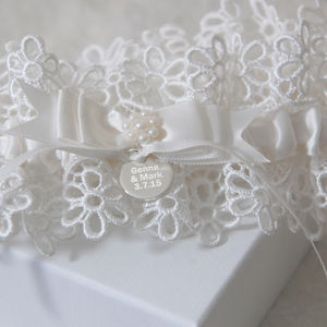 Personalised Wedding Garter - lingerie & nightwear