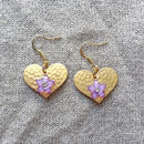 Gold Hearts Double Sided Earrings