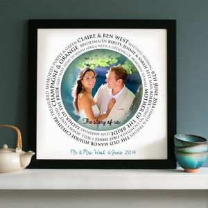 Personalised 'The Story Of Us' Wedding Art