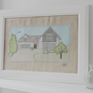 Personalised House Textile Illustration