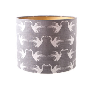 Swan Linen Drum Lampshade - what's new