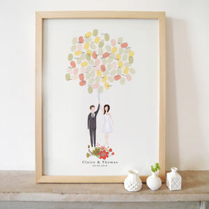 Bespoke Bride And Groom Portrait Guestbook - less ordinary guest books
