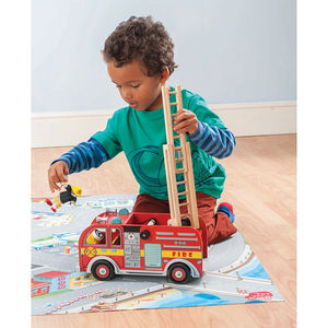 Wooden Fire Engine - traditional toys & games