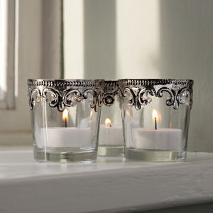 Set Of Six Royal Tea Lights - votives & tea light holders